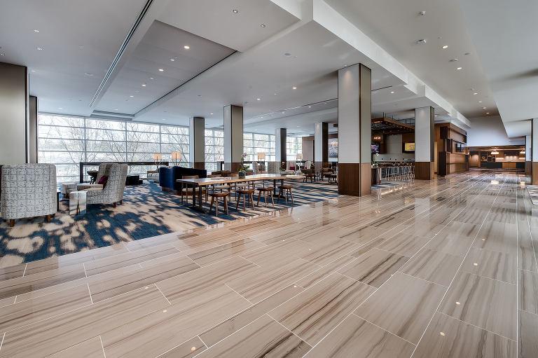 durham architectural photography of JB Duke Hotel Lobby