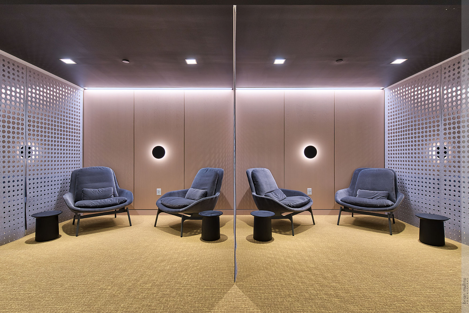Commercial architecture interior seating area