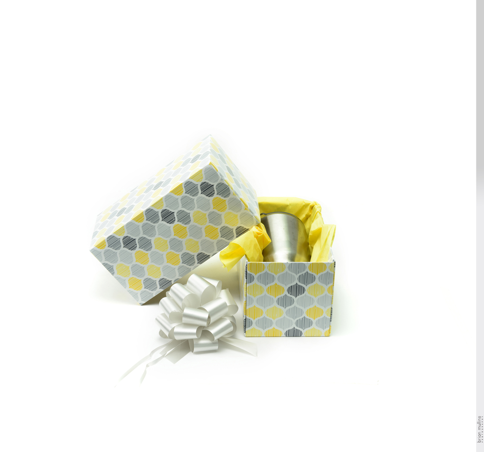product photography of gift box
